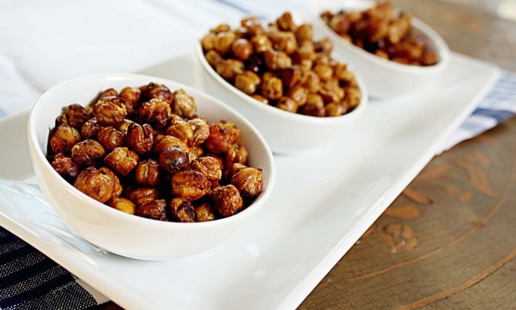 Sriracha, Cilantro, and Lime Roasted Chickpeas