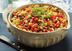 Black-Eyed Pea and Stewed Tomato Salad