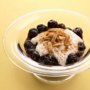 Cherries with Ricotta & Toasted Almonds