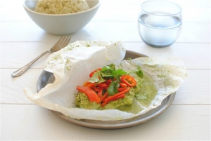 Coconut Cod in Parchment Paper