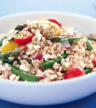 Farro Salad with Asparagus and Feta