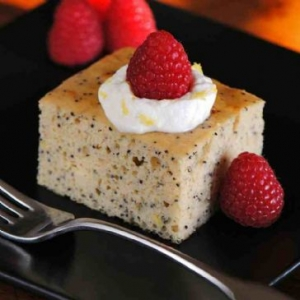 Lemon Yogurt Protein Cake