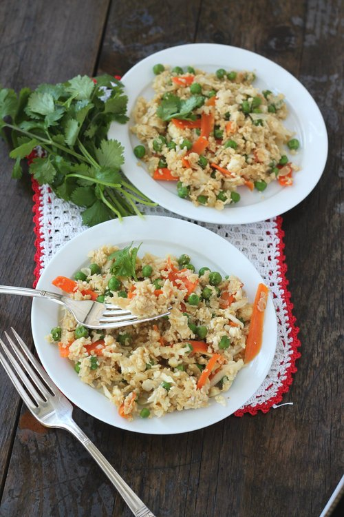 "Light Cauliflower ""Fried Rice"""