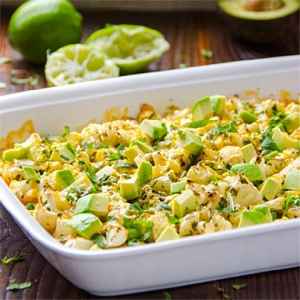Lime and Cilantro Cauliflower with Avocado