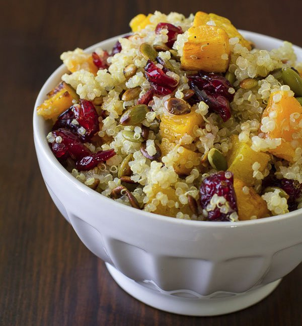 Quinoa-Salad-with-Butternut-Squash,-Dried-Cranberries,-and-Pepitas
