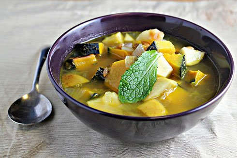 Squash, Apple and Spelt Berry Soup