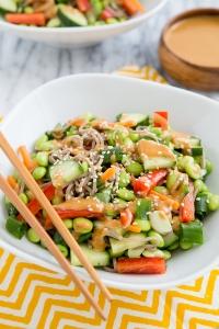 Thai peanut veggie bowl