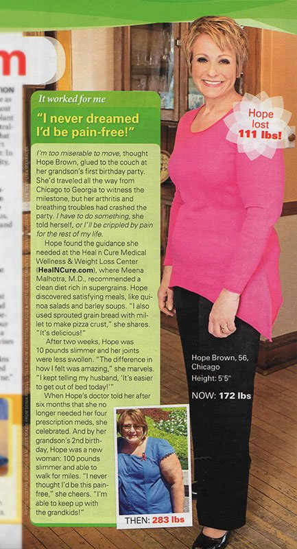 First for Women magazine featured patient Hope Brown