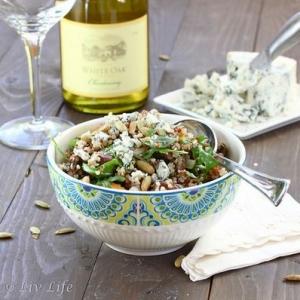 Roasted Mushroom Qunioa Salad