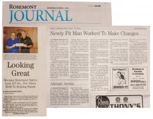 Dennis Sierociuk in the Rosemont Journal