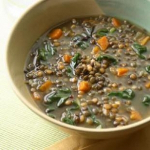 Cumin-Scented Wheat Berry-Lentil Soup