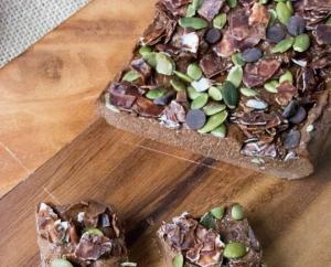 No Bake Sugar-Free Chocolate Pumpkin Protein Fudge