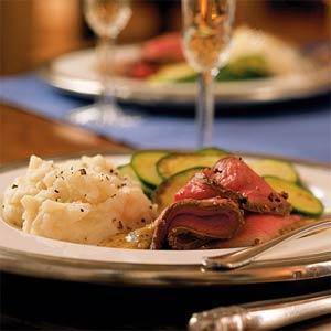 Roast Beef with Horseradish Mustard Sauce
