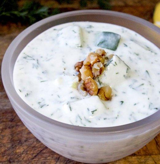 Bulgarian Chilled Yogurt Cucumber Soup