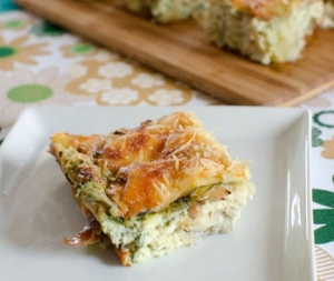 Artichoke, Parmesan and Spinach Crustless Quiche