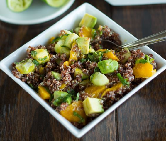 Mango, Avocado, and Red Quinoa