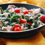 KALE-SPINACH-AND-TOFU-SCRAMBLE-WITH-TOMATOES-THYME-AND-FETA-