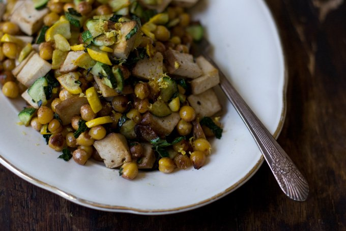 Lemony Chickpea Stir-fry Recipe