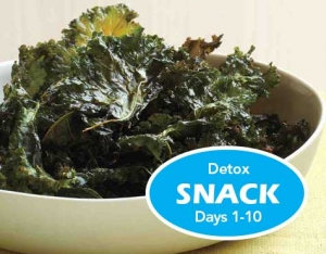 Kale Chips Detox Diet Snack