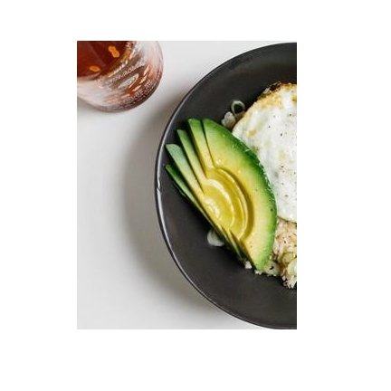 Rice avocado stir fry