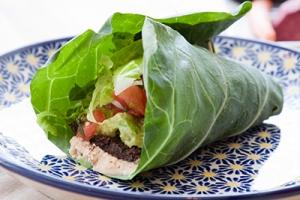 Bean quinoa lettuce wraps
