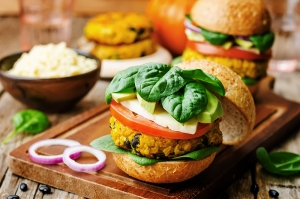 vegetarian millet burgers