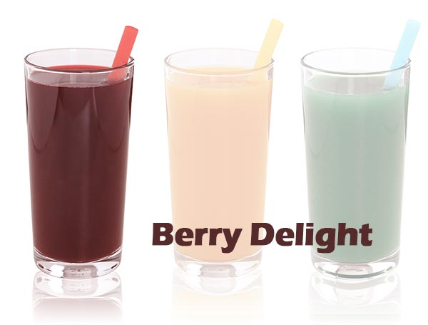 berry smoothie with ultraclear