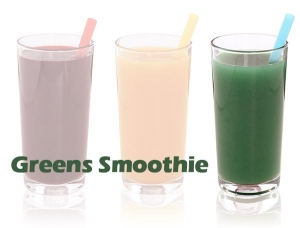 greens smoothie with Ultraclear