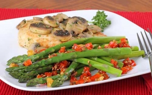 chicken asparagus mushrooms