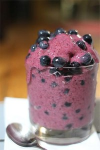 blueberries smoothie