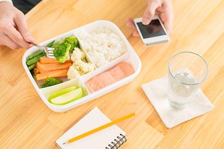 Salmon Cauliflower Bento Lunch