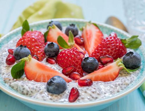 Chia Breakfast Porridge with Berries